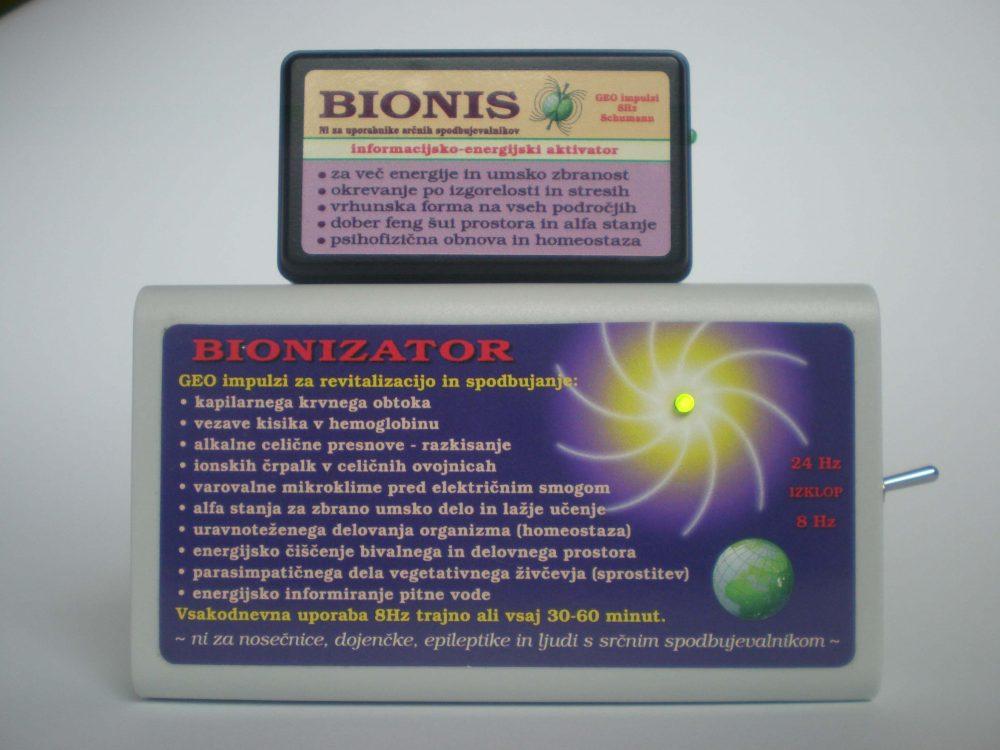 Bionis in Bionizator krepita biopolje, krvni in limfni obtok, z geo impulzi