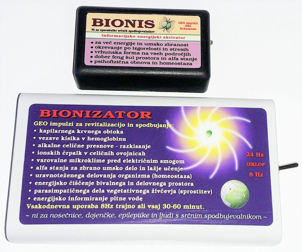 Bionis in Bionizator z oddajanjem geo impulzov krepita kostno maso